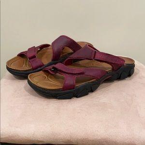 "Women's ""Sarasota' leather slide sandal"